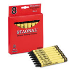 Staonal® Staonal Marking Crayons, Black, 8/Box