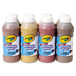 Crayola Multicultural Washable Paint Pack, 8 Assorted Colors, 8 oz, 8/Pack