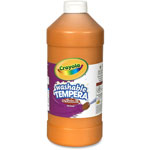 Crayola Artista II Washable Tempera Paint, Orange, 32 oz
