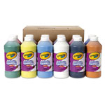 Binney and Smith Washable Paint, Assorted, 16 oz Bottle, 12 per Set