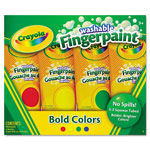Crayola Washable Fingerpaint Pack, 4 Assorted Colors, 5 oz, 4/Pack