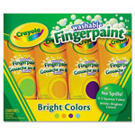 Crayola Washable Fingerpaint Pack,4 Assorted Colors, 5 oz, 4/Pack