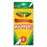 Crayola Non-Washable Markers, Fine Point, Classic Colors, 8/Set
