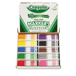 Crayola Non-Washable Classpack Markers, Fine Point, Ten Assorted Colors, 200/Box