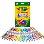 Crayola Erasable Colored Woodcase Pencils, 3.3 mm, 36 Assorted Colors/Set