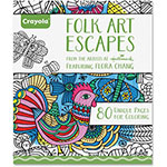 Crayola Folk Art Escapes Coloring Book, 80 Pages, Multi
