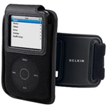 Belkin Sports Holster And Armband - Holster Bag For Digital Player - Microfiber - Black - IPod Nano (aluminum) (2G)