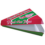 "Pactiv 18/6 ""Fresh Hot"" Pizza Slice Clamshell"