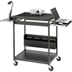 Bretford Bretford Manufacturing TC12FF-BK Mobile Technology Cart TC12FF-BK - Cart for Projector / Notebook / Camera - Steel - Black