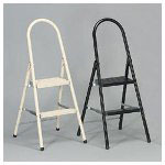 Davidson Ladders #560 Steel Qwik Step Platform Ladder, Almond, 16 7/8w x 19 1/2 spread x 41h