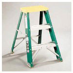 Davidson Ladders #624 Folding Fiberglass & Aluminum 2 Step Stool, Locking, 17w x 22 spread x 24h
