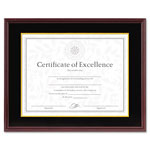 Dax Hardwood Document/Certificate Frame with Mat, 11x14, Mahogany