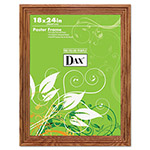 Dax Solid Wood Poster Frame, Plexiglas Window, Medium Oak Finish, 18 x 24