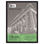 Dax Flat Face Wood Poster Frame, Plexiglas Window, Black Laminate Outer Edge, 18x24