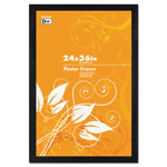 "Dax Black Wood Poster Frame, Wide Profile, Plexiglas® Window, 24"" x 36"""