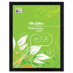 Dax Black Wood Poster Frame, Wide Profile, Plexiglas® Window, 18 x 24
