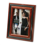 Dax Two Tone Walnut/Black Photo/Picture Frame, Desk/Wall, 5 x 7