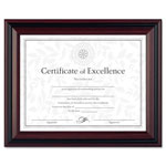 Dax Two Tone Walnut/Black Document Frame, Desk/Wall, 8 1/2 x 11