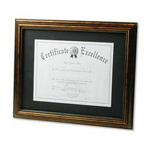 Dax Wood Document Frame with Black Mat, Desk/Wall, Antique Bronze, 11 x 14