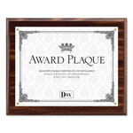 Dax Award Plaque with Acrylic Cover for Up to 8 1/2 x 11 Insert, Walnut