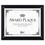 Dax Award Plaque with Acrylic Cover for Up to 8 1/2 x 11 Insert, Black