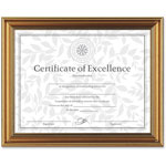 Dax Antique Gold Document Frame with Certificate, 8 1/2 x 11
