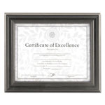 Dax Dimensional Solid Wood Frame, 8 1/2 x 11, Pewter Frame
