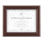 Dax Dimensional Solid Wood Frame, 8 1/2 x 11, Rosewood Frame