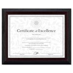 Dax Solid Wood Award/Certificate Frame, Black/Walnut Molding, 8-1/2 x 11