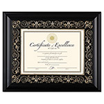 "Dax Florence Document Frame with Mat, 11""x14"", Black"