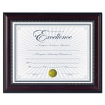 Dax Prestige Document Frame, Rosewood/Black, Gold Accents, Certificate, 8 1/2 x 11""
