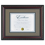 Dax World Class Document Frame w/Certificate, Walnut, 11 x 14""