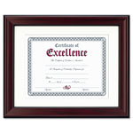 Dax Rosewood Document Frame, Wall Mount, Wood, 11 x 14