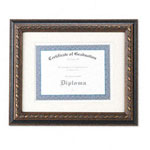 Dax Level Line Document Frame, Old World Style, Wood, 11 x 14, Black/Champagne