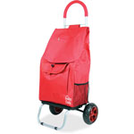"dbest Shopping Trolley Dolley, Beverage Holder, 15"" x 13"" x 38"", Red"