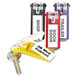 Durable Key Tags, Plastic, Assorted Colors, 24/Pack