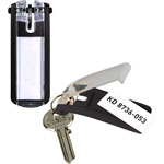 Durable Black Key Tags with Paper Inserts for Locking Key Cabinets