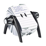 Durable flip Address Card File, 500 4 1/8 x 2 7/8 Cards, Black/Silver