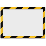 Durable Office DuraClip® Self Adhesive Frame, Ltr, Yellow/Black