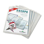Durable Sherpa® Display Presentation System Panels, Gray Border, 5/Set