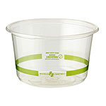 World Centric 16 oz Deli Containers, Ingeo, Compostable
