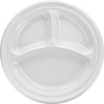 Dart Container Foam Plate 10.25 In White, 4/125