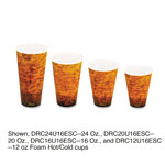 Dart Foam Hot/Cold Cups, 20oz, Brown/Black, 500/Carton