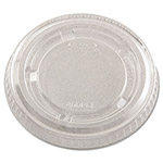 Dart Container 400PCL Clear Plastic Lid for 3 1/4 - 5 1/2 Ounce Cups