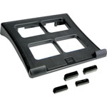 "Data Accessories Corp Laptop Stand, Height Adjustable, 11-1/2x13"" x 2"", Black"