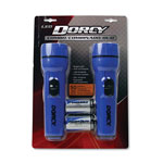 Dorcy LED Flashlight Pack, 1 D Battery, Blue