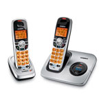 Uniden DECT1560-2 DECT 6.0 Compact Cordless Phone with Caller ID and Extra Handset and Charging Cradle