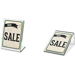 "Deflecto Mini Tabletop Sign Holder, 1-1/2"" x 2"", Clear"