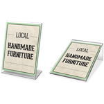 "Deflecto Mini Tabletop Sign Holder, 3"" x 4"", Clear"