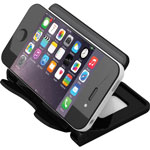 "Deflecto Smartphone Stand, Hands-Free, 4"" x 2-3/4"" x 2-3/4"", Black"